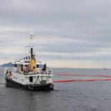 Oljevern 01, et av Kystverkets oljevernfartøy, deltok i øvelsen. Foto: Kystverket/Sunniva Ullavik Erstad