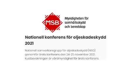 Nationell konferens för oljeskadeskydd 2021
